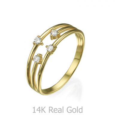 Ring in 14K Yellow Gold - Elements