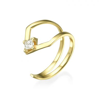 Diamond Ring in 14K Yellow Gold - Halley