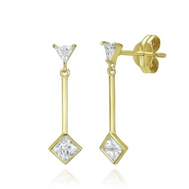 14K Yellow Gold Dangle Earrings - Sunlight
