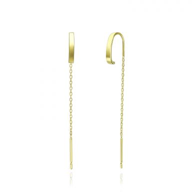 14K Yellow Gold Dangle Earrings - Spirit