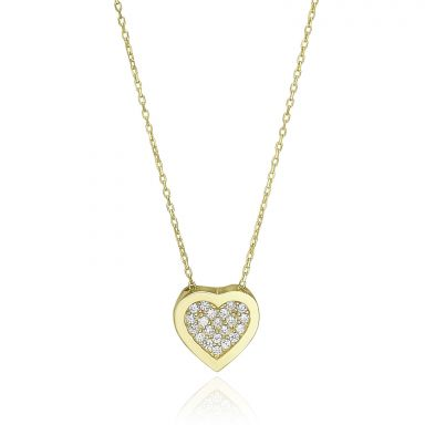 14k yellow gold women's pandants - Harmony Heart