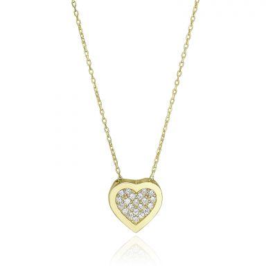 14k yellow gold women's pandants - Harmony Heart