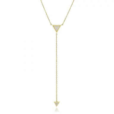 14k Yellow gold women's pendant  - Dangling pyramid