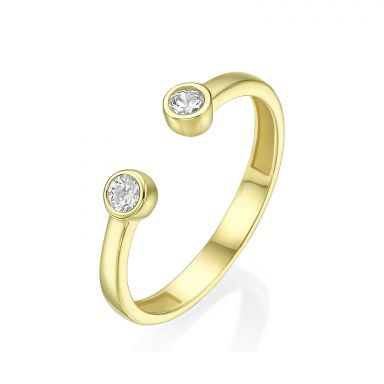 14K Yellow Gold Rings - Shiny Dew balls