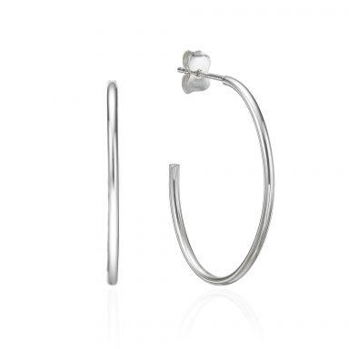 14K White Gold Women's Earrings - Rio