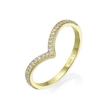14K Yellow Gold Rings - Lea