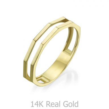 14K Yellow Gold Ring - Milano