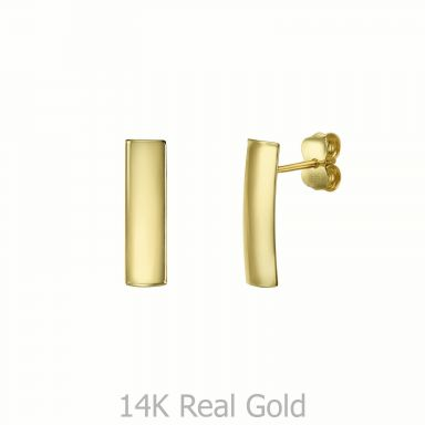 14K Yellow Gold Women's Earrings - Short Thea