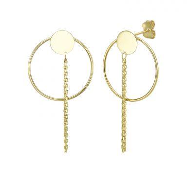 14K Yellow Gold Women's Earrings - leila