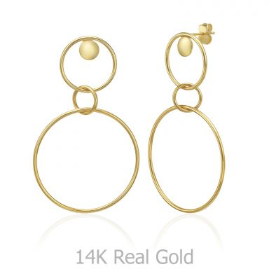 14K Yellow Gold Women's Earrings - Pompeii