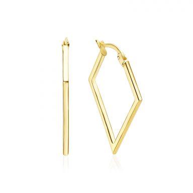 14K Yellow Gold Women's Earrings - Brazil