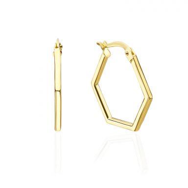 14K Yellow Gold Women's Earrings - Barcelona
