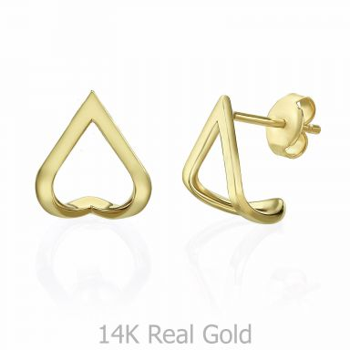 14K Yellow Gold Earrings - Lagoon