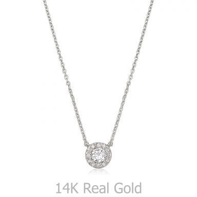 14K White Gold Diamond Women's Pendant - Maribel