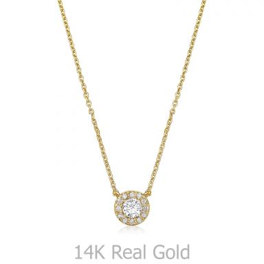 14K Yellow Gold Diamond Women's Pendant - Maribel