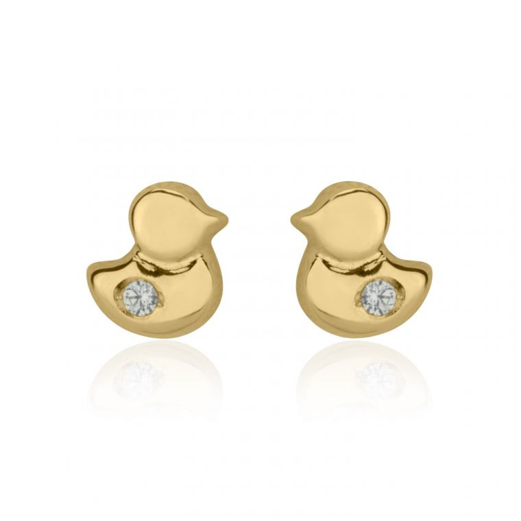 Gold Stud Earrings -  Sparkling Chick