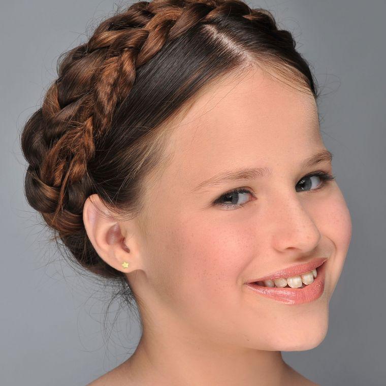 Gold Stud Earrings -  Shining Star