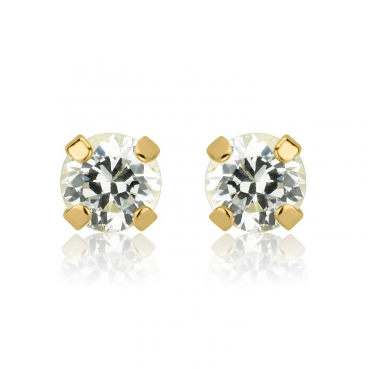 Gold Stud Earrings -  Moulan