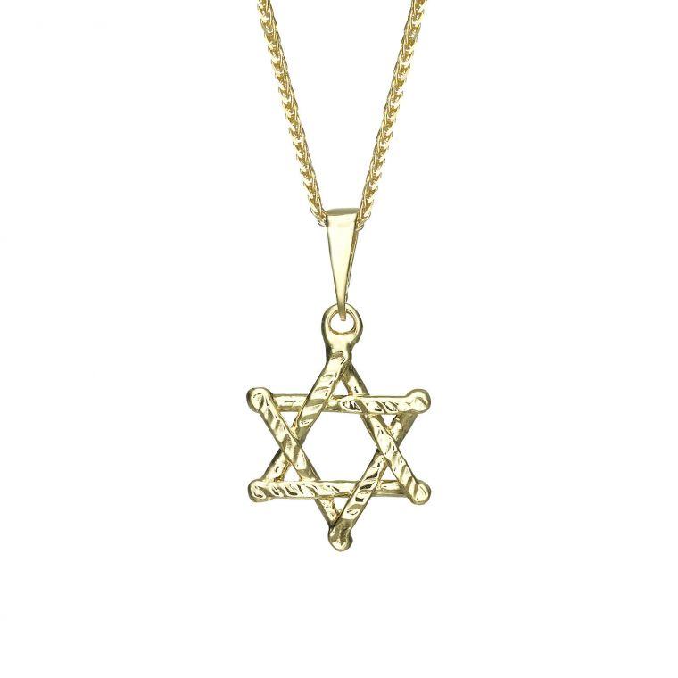 Gold Pendant - Star of David (Zion)