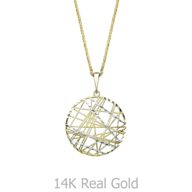 Gold Pendant - CrissCross