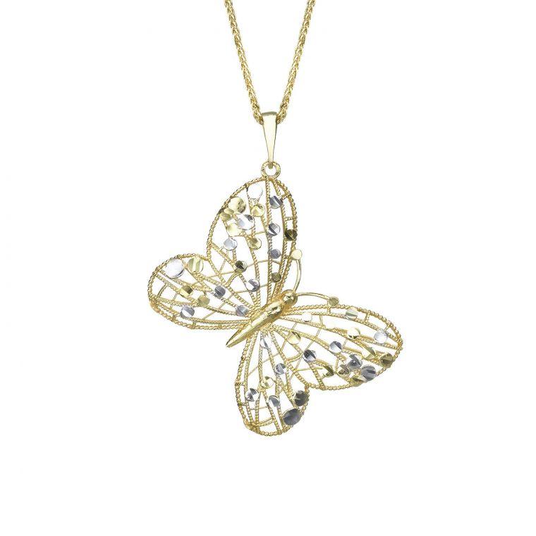 Gold Pendant - Golden Butterfly