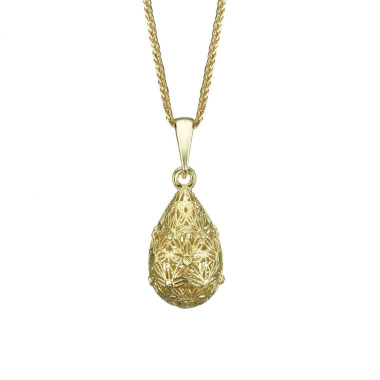 Gold Pendant - Golden Drop