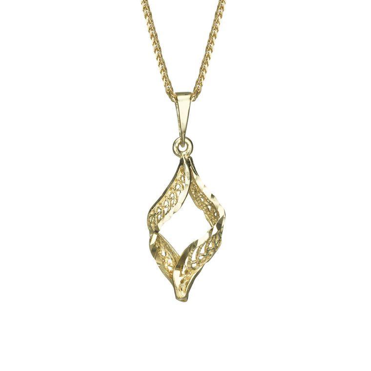 Gold Pendant - Golden Twist