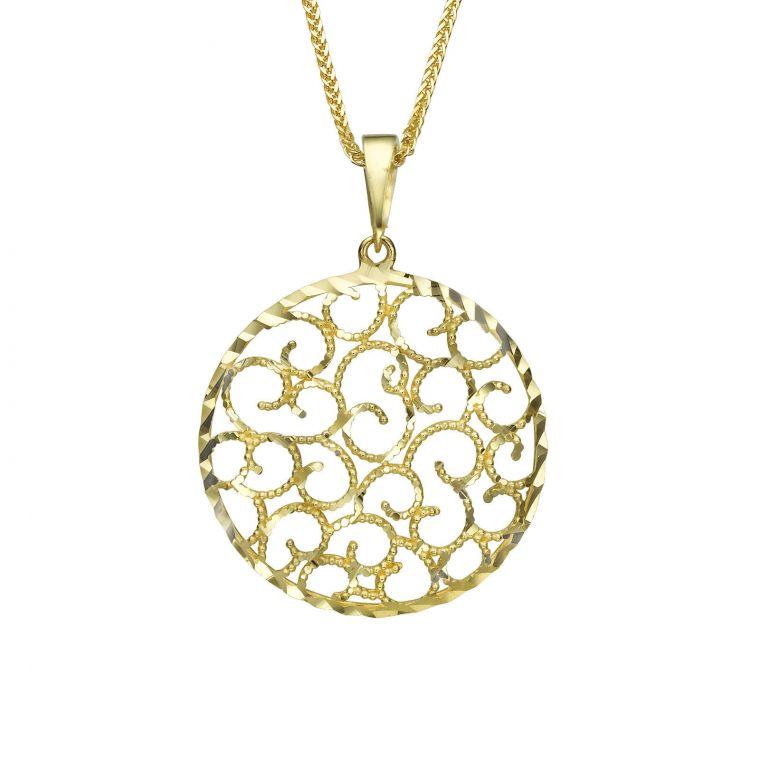 Gold Pendant - Twirls of Gold