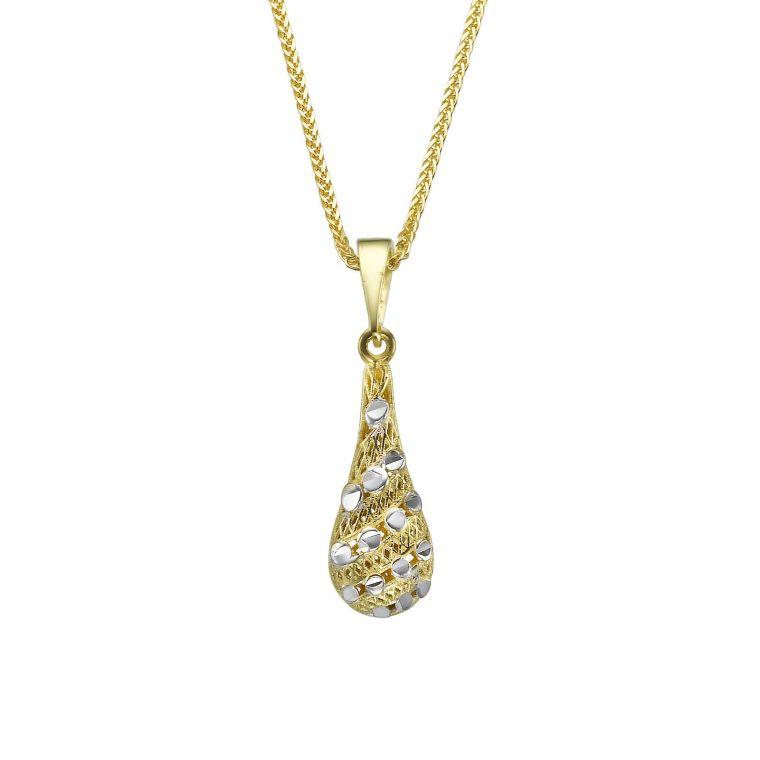 Gold Pendant - Golden Dew Drop