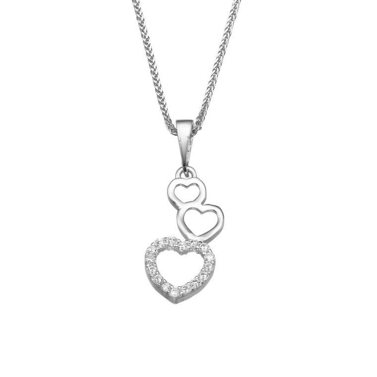White Gold Pendant - Heart of Alma