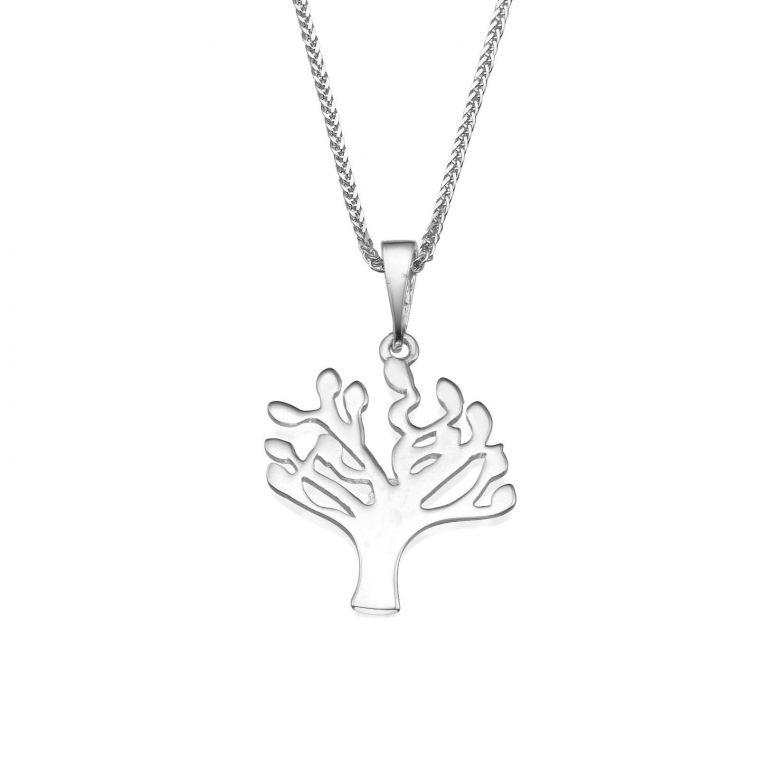 White Gold Pendant - Tree of Life