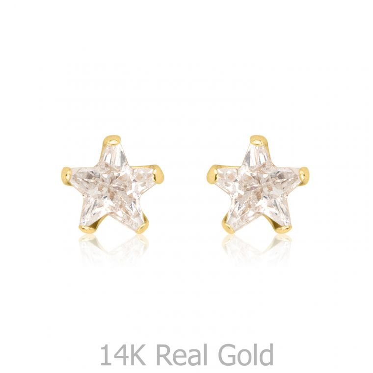 Gold Stud Earrings -  The North Star - Small
