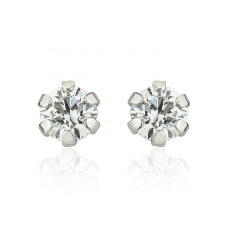 Gold Stud Earrings -  Flower of Alice