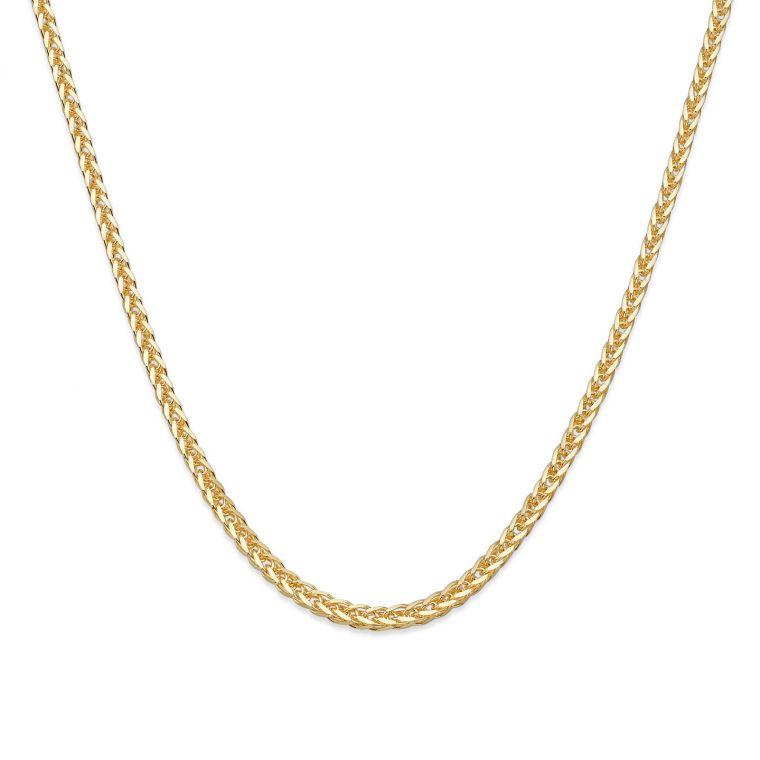 Spiga Necklace -  Elegant Braid, 1 MM