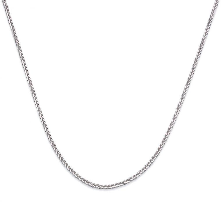Spiga Necklace -  Elegant Braid, 0.7 MM