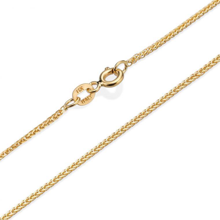 Spiga Necklace -  Elegant Braid, 0.8 MM
