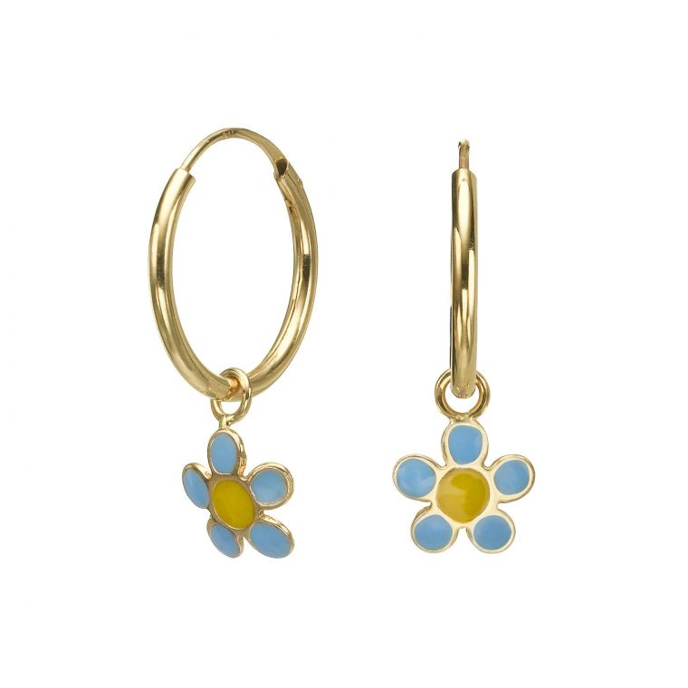 Earrings - Selina Flower - Light Blue