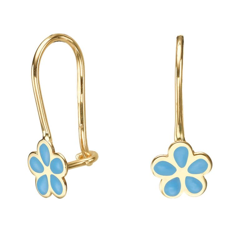 Earrings - Isabella Flower -Light Blue