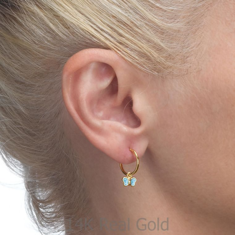 Earrings - Annabelle Butterfly - Light Blue