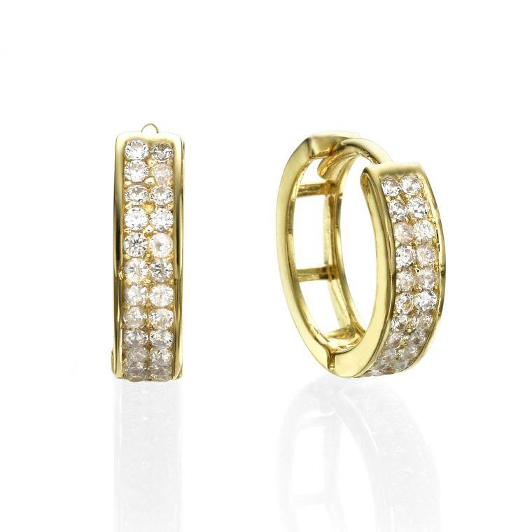 Huggie Gold Earrings - North Star