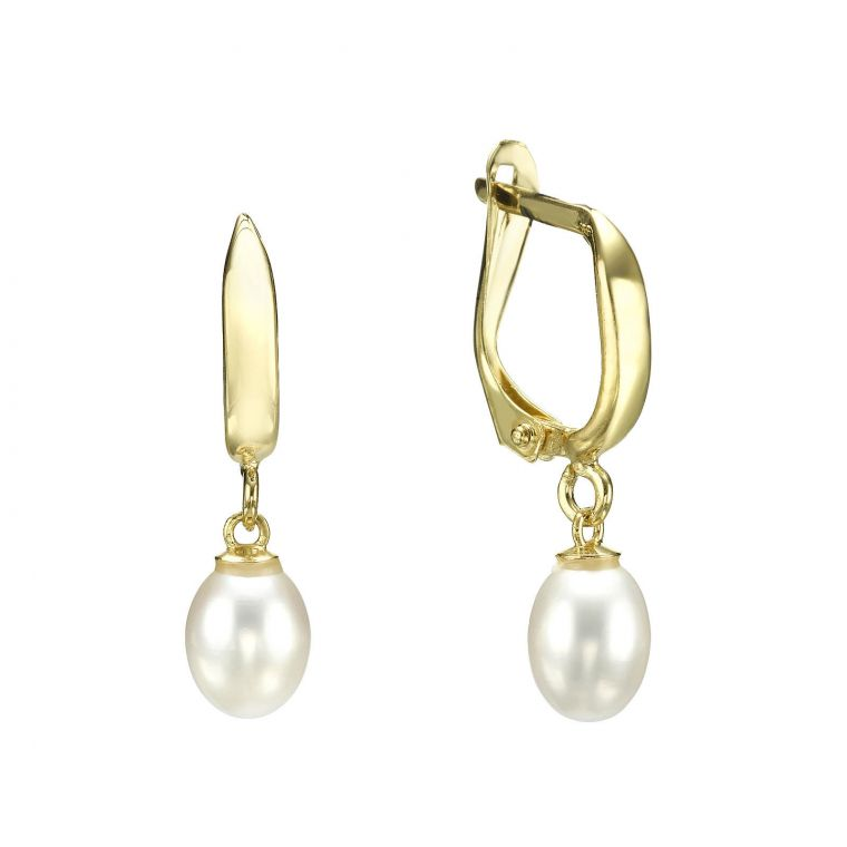 Tight Gold Hoop Earrings - Tokyo Pearl