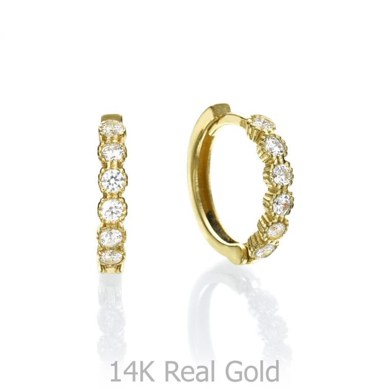 Huggie Gold Earrings - Brilliant Flair