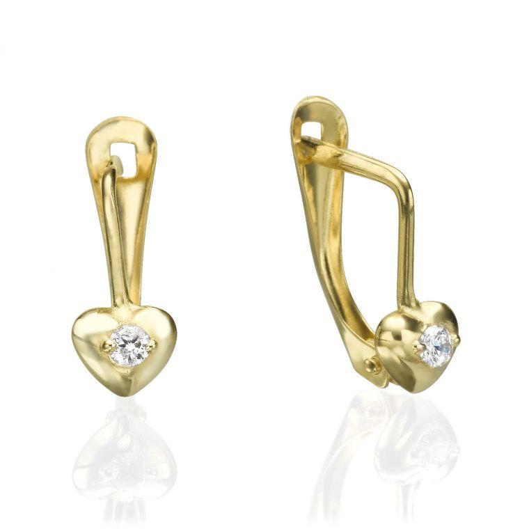 Drop Earrings - Full Heart