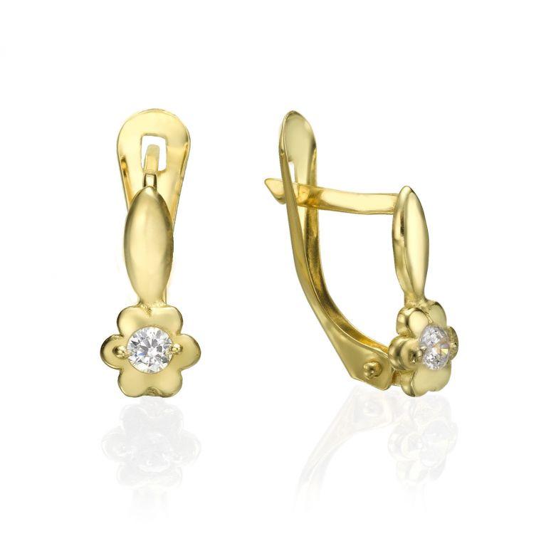 Drop Earrings - Flower and Stalk