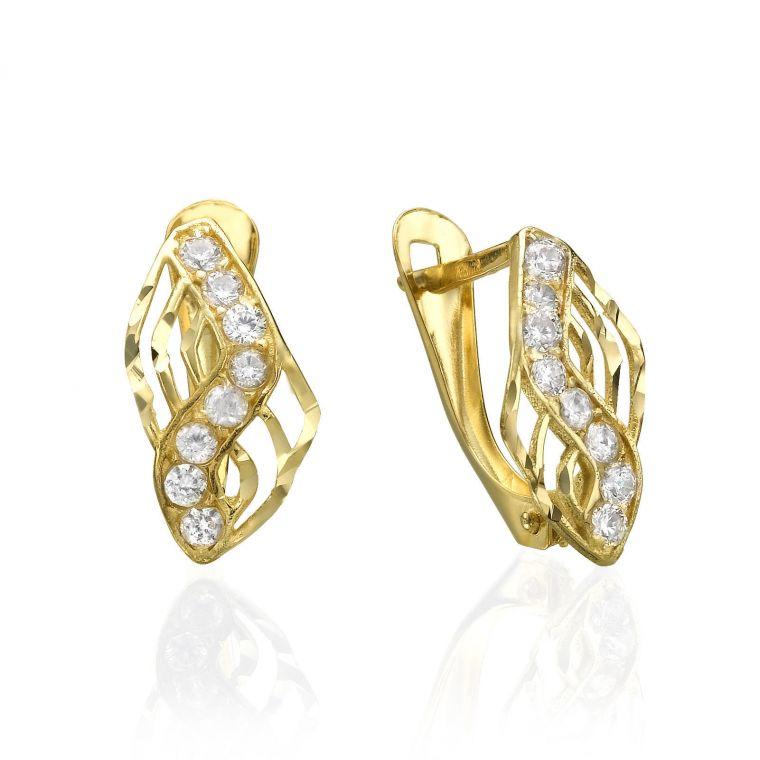 Drop Earrings - Gold Lightning