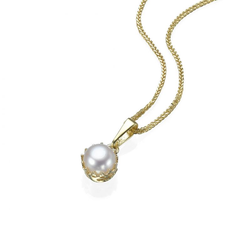 Gold Pendant - Queen of Pearl
