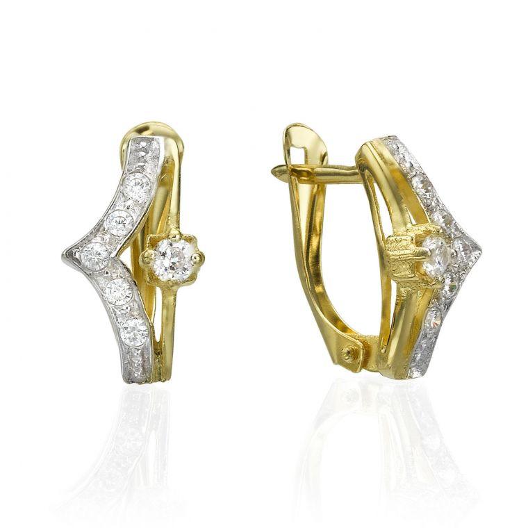 Gold Drop Earrings - Sparkler