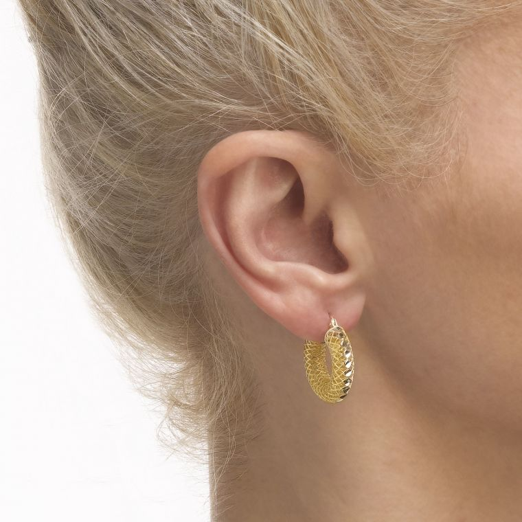 Gold Hoop Earrings - Hoops of Splendor -  Big