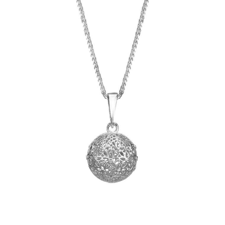 White Gold Pendant - Golden Globe