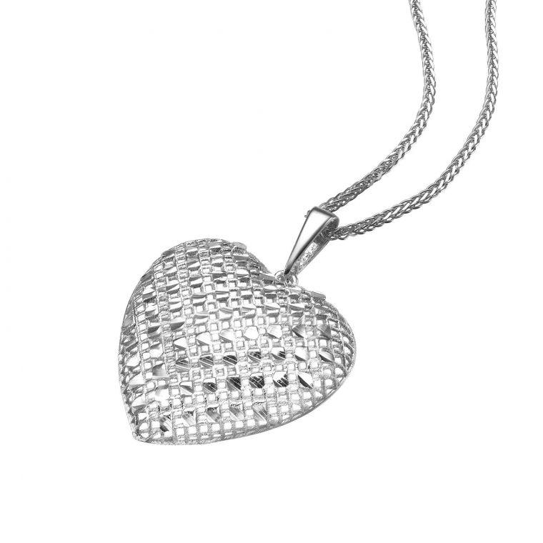 White Gold Pendant - Belle's Heart